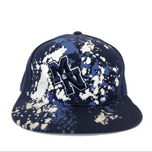 MITCHELL & NESS | BLUE MN SPLASH FITTED CAP |7 7/8
